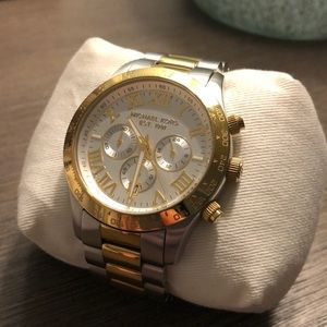 Michael Kors TwoTone Stainless Steel Chrono Watch